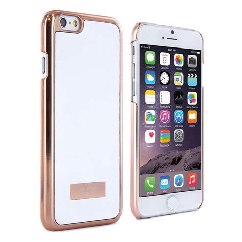 iphone     shell case ted baker womens almoni white rose gold proporta