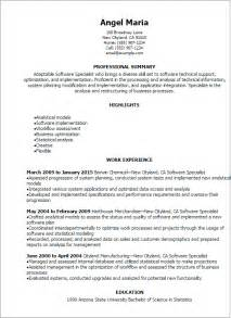 Sales Support Specialist Cover Letter by Software Sales Support Resume