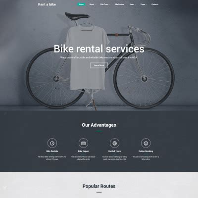Web Design Templates Website Design Templates Template Monster Bike Shop Website Template