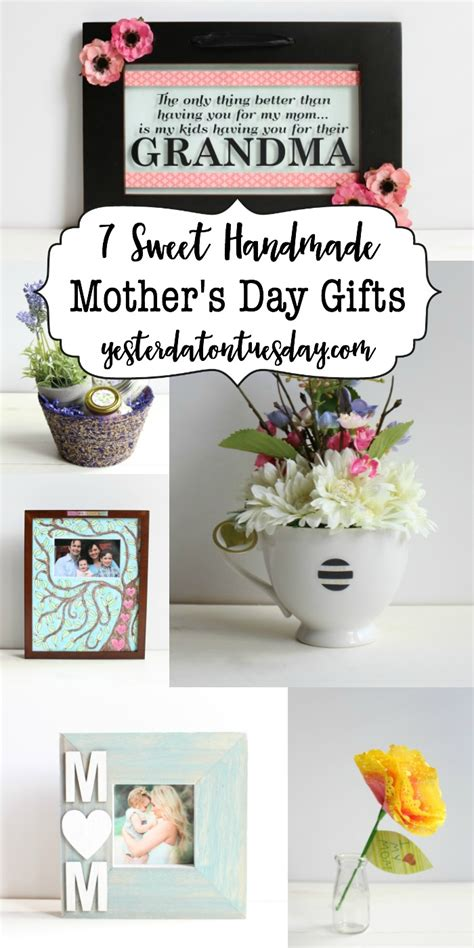 Handmade Mothers Day Presents - 7 sweet handmade s day gifts yesterday on tuesday