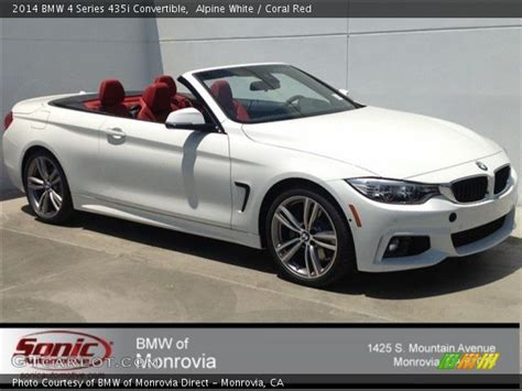White Bmw With Interior For Sale by Alpine White 2014 Bmw 4 Series 435i Convertible Coral