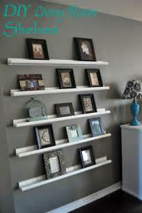 Living Room Shelves by Right Where We Are Diy Shelving For Picture Frames