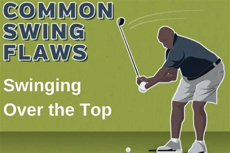 Common Swing Flaws Swinging Over The Top Plugged In Golf