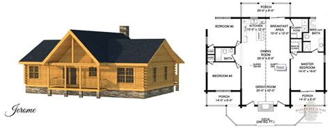 Free Log Home Floor Plans by Small Log Homes Amp Kits Southland Log Homes