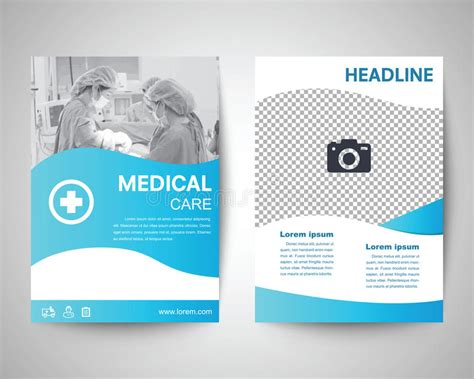 Blue Medical Flyer A4 Template Stock Vector Illustration Of Information Blank 72171986 Information Flyer Template