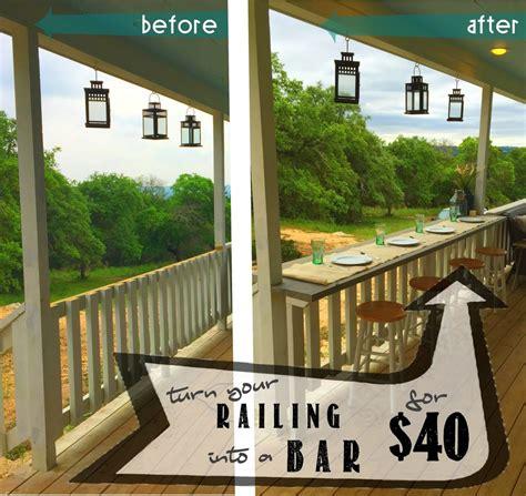 Porch Blueprints turn your railing into a quot eat up quot bar rhyne farm