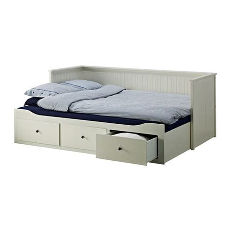 ikea day bed hemnes day bed w 3 drawers 2 mattresses grey moshult firm