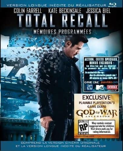 god of war le film en francais god of war ascension la d 233 mo dans le blu ray de total recall
