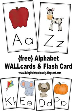 free printable preschool alphabet flash cards the preschool plan free printable alphabet wall cards