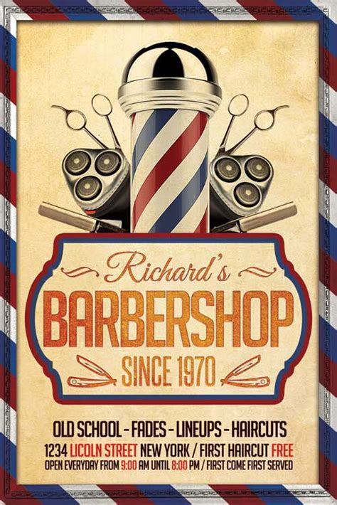 barber shop template barber shop flyer template xtremeflyers