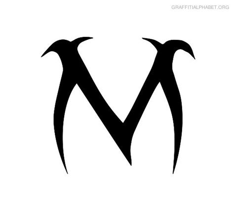 graffiti m free coloring pages of graffiti letter m