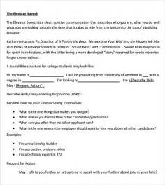 elevator pitch template elevator speech template playbestonlinegames