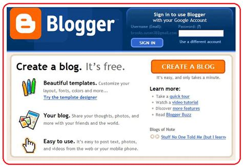 build blog how to blog using blogger web2 be a creator a