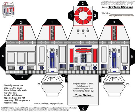 Wars Papercraft Templates - 15 best photos of r2 d2 wars papercraft templates