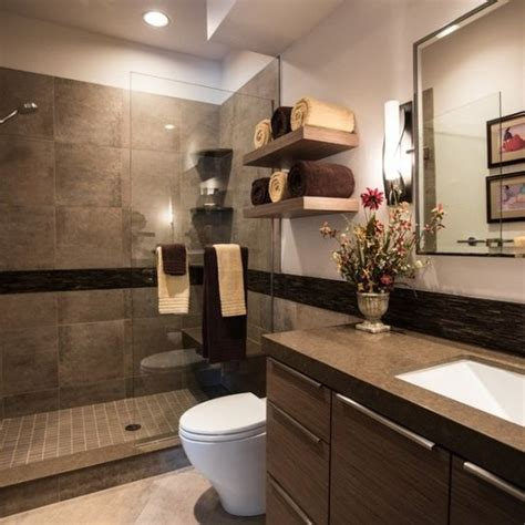 modern bathroom colors brown color shades chic bathroom interior design ideas wooden vanity Modern Bathroom Colors
