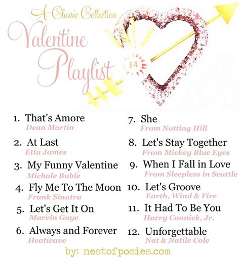 valentines song a playlist nest of posies