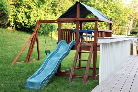 Playsets For Small Backyards by Yes You Can Still An Outdoor Playset In A Small Yard