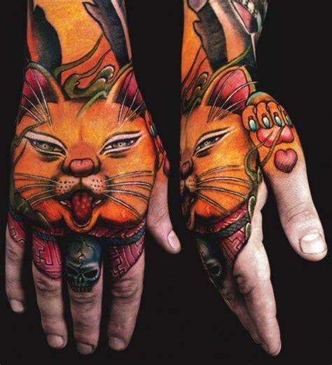 tattoo new school hand new school oriental cat tattoo by jess yen tattoos