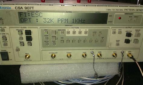 pattern generator calibration tektronix csa907t pattern generator 700mbit teardown and