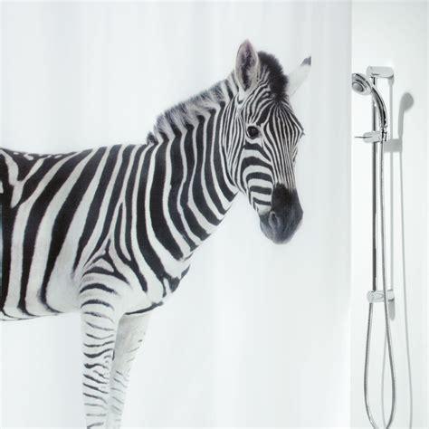 Spirella Rideau Textile by Spirella Zebra Textil Duschvorhang Clevershower