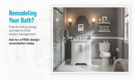 bathroom remodel lowes bathroom renovation design services from lowe s