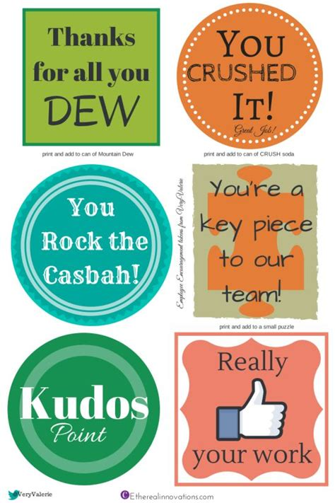 printable gift tags for employee appreciation employee encouragement employee recognition