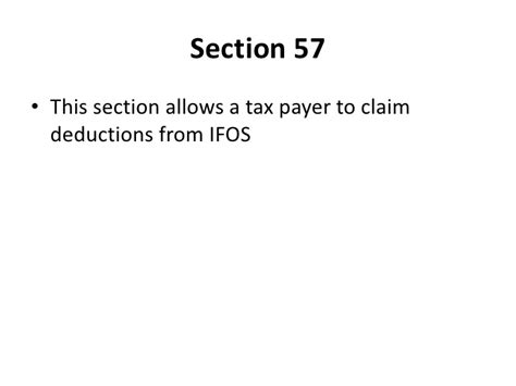 deduction under section 57 income from other sources