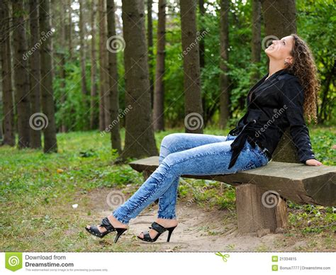 bench girl girl on a bench royalty free stock photo image 21334815