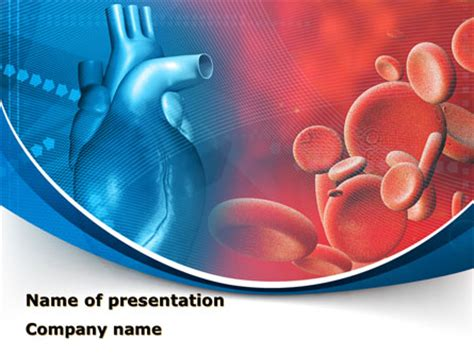 Inside The Circulatory System Powerpoint Template Backgrounds 10509 Poweredtemplate Com Cardiovascular Powerpoint Template Free