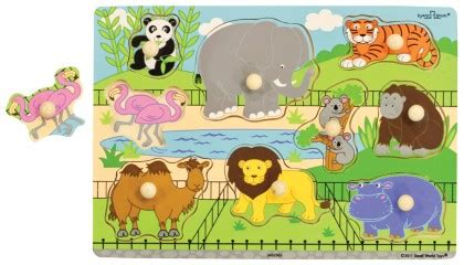 Spesial Knob Puzzle Zoo Animals zoo animals puzzle wooden knob