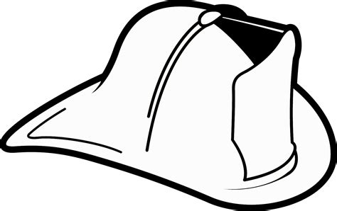 firefighter hat coloring page coloring home
