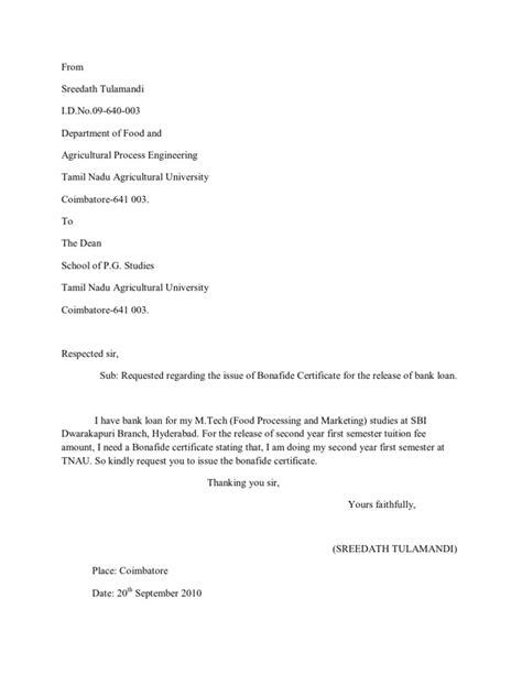 application letter for bonafide certificate application letter bonafide certificate school
