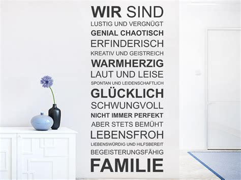 Wandtattoo Kinderzimmer Geschwister by Wandtattoo Wir Sind Familie Spruchband Wandtattoo De