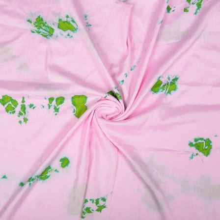 Batik Satin buy pink and green batik satin fabric 32040