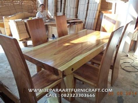 Meja Makan 1set Trembesi Solid jual set kursi makan antik trembesi solid wood murah