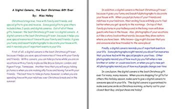 introduction speech for x mas best gift persuasive essay exle by bethany holley