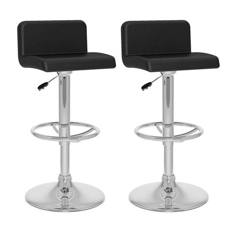 Black Chrome Stools by Shop Corliving Black Chrome Adjustable Stool At Lowes