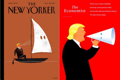 New Yorked the econonist new yorker depict as kkk