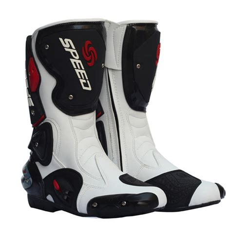 white motorbike boots pro biker motorcycle boots speed men women moto racing