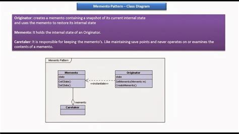 pattern memento java java ee memento design pattern class diagram j2ee