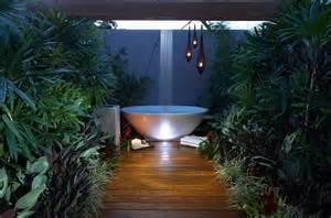 outdoor bathtub 23 amazing inspirations that take the bathroom outdoors
