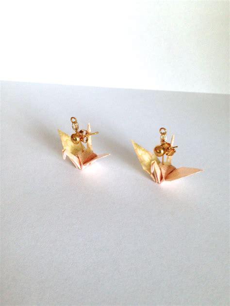 Origami Bird Earrings - pink origami bird earrings 183 pendants 183 store