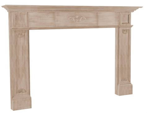 Unfinished Wood Fireplace Mantels pearl mantels 126 jefferson unfinished fireplace hearth mantel