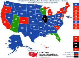 Usa Concealed Carry Map by Ccw Usa