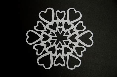 printable heart snowflake template paper heart snowflake creative pop up cards