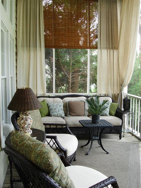 screened porch curtains outdoor decorating ideas outdoor spaces patio ideas