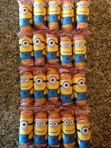 birthday treats 25 b 228 sta id 233 erna om minion twinkies p 229 twinkie minions