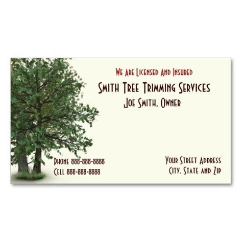 tree trimmer business card template 189 best tree trimmer business cards images on