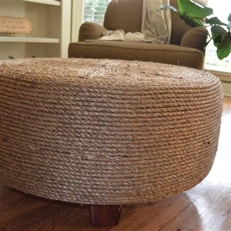 rope ottoman diy project how to make a rope ottoman