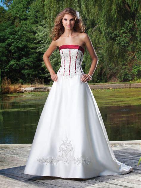 Hochzeitskleid Mit Rot by 246 Se Brautkleider Wei 223 Rot A Linie Mit Schleppe